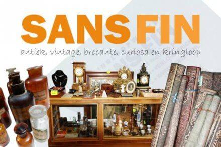 Flyer kringloopwinkel Sans Fin Venlo